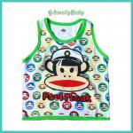 เสื้อผ้าเด็ก เสื้อกล้ามคอกลม เสื้อกล้ามเด็กชาย ลายลิงน่ารัก ไซต์ 100