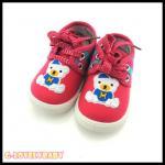 รองเท้าเด็ก รองเท้าผ้าใบเด็ก รองเท้าเด็กวัยหัดเดิน ลายหมี พื้นยางหนากันลื่น ขนาดสำหรับเด็กอายุ 1-2.5ปี พร้อมส่ง