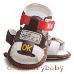 รองเท้าเด็ก รองเท้าเด็กวัยหัดเดิน รองเท้าเด็กผู้ชาย พื้นยางกันลื่น สีน้ำตาล น่ารักๆ 12.5ซม. อายุ 9-12เดือน