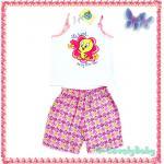 ชุดเด็กหญิง เสื้อกางเกงขาสั้น Baby Looney Tunes (WB) ของแท้ ขนาด 0-6M / 6-12M