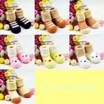 ถุงเท้าเด็ก ถุงเท้าเด็กเล็ก สวมใส่กันหนาว สินค้าเกาหลี ผ้าเทอรี่หนานุ่ม ลายการ์ตูนน่ารัก 0-1ขวบ