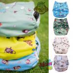 Baboon Baby กางเกงผ้าอ้อมซักได้ เอวเทป สำหรับเด็กแรกเกิด - 2 ปี