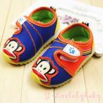 รองเท้าเด็ก พื้นยางกันลื่น รองเท้าเด็กเล็ก รองเท้าเด็กหน้าลิง ฟอลแฟรงค์ น่ารักๆ