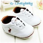Polo Pre-walker Baby Shoes รองเท้าเด็ก รองเท้าเด็กแบรนด์เนม รองเท้าเด็กชาย รองเท้าเด็กชายวัยหัดเดิน ยี่ห้อ Polo Size 1 (3-6M)