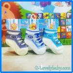 ถุงเท้าเด็กทารกแรกเกิด ถุงเท้าเด็กอ่อน ถุงเท้าเด็กสไตล์รองเท้า ถุงเท้าเด็ก ถุงเท้าเด็กชาย ถุงเท้าเด็กหญิง แพค 3 คู่ ขนาด 6-9 เดือน Pack A