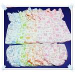 ชุดเด็กอ่อนผูกหลังผ้า Cotton 100% พิมพ์ลาย แขนระบาย