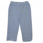 กางเกงเด็กผ้ายืด สีน้ำเงินขาว 18 เดือน