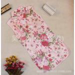 (พร้อมส่ง Size 8) ชุดกระโปรงกี่เพ้าสีชมพูลายดอก