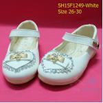 15F1249 White รองเท้าเด็กผู้หญิง หนังแก้วสีขาว ส้นเตี้ย ใส่ไปงาน แต่งงานเลี้ยง (26)