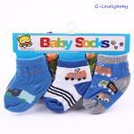 ถุงเท้าเด็ก ถุงเท้าเด็กทารก ถุงเท้าเด็กอ่อน ถุงเท้าเด็กเล็ก แพค 3 คู่ ขนาด 6-18 เดือน แบบ B