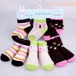 ถุงเท้าเด็ก คุณภาพดี ถุงเท้าเด็กทารก ถุงเท้าเด็กอ่อน ถุงเท้าเด็กเล็ก แพค 3 คู่