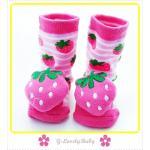 ถุงเท้าเด็ก ถุงเท้าเนื้อนุ่มพื้นกันลื่น ถุงเท้าหัวการ์ตูน 3 มิติ มีเสียงกระดิ่งเวลาเดิน สำหรับเด็กอายุ 2-4 ปี