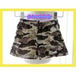 เสื้อผ้าเด็ก BIG W (Dymples) กางเกงขาสั้น กางเกงขาสั้นเอวยางยืดลายทหาร สีน้ำตาลกากี 6M
