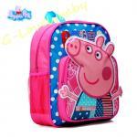 Peppa Pig Kids Backpack เป๊ปป้าพิก กระเป๋าเป้เด็ก กระเป๋าสำหรับเด็กอนุบาล น่ารักๆ สีชมพู