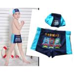 กางเกงว่ายน้ำเด็กชายพร้อมหมวก ลายโทมัส