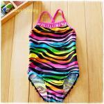 ชุดว่ายน้ำเด็ก ชุดว่ายน้ำเด็กหญิง ชุดว่ายน้ำหนูน้อย ชุดว่ายน้ำเด็กเล็ก สีสดใสน่ารักมาก Size S (2-3ขวบ)