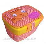 (ไซส์ L ) ตะกร้าหุ้มผ้าแฟนซี ใบใหญ่ ใส่ของใช้เด็ก แมว ส้ม