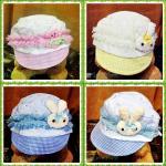หมวกเด็ก หมวกเด็กทารก หมวกเด็กอ่อน หมวกเด็กราคาถูก หมวกเด็กตุ๊กตา ผ้าลูกไม้ แบบผูกหลัง หมวกเด็กหญิงน่ารักๆ