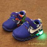 รองเท้าเด็ก พื้นยางกันลื่น รองเท้าเด็กมีไฟ LEDไฟกระพริบ สไตล์สปอร์ต ไนกี้ หนังแท้ รองเท้าเด็กชาย รองเท้าเด็กหญิง รองเท้าเด็กวัยหัดเดิน รองเท้าเด็กวัยเตาะแต๊ะ พร้อมส่ง