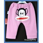 เสื้อผ้าเด็ก กางเกงเด็ก หน้าลิง สีชมพู M