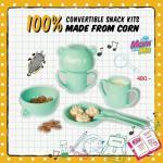 ชุดทานอาหารเด็ก Organic Earth Dezign ชุดผลิตภัณฑ์จานชามสำหรับเด็ก จากข้าวโพด 100% PLA BPA FREE