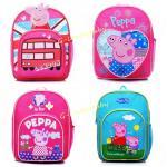 Kids Backpacks Kindergarten Backpacks , Peppa Pig Kids Backpacks เป๊ปป้าพิก กระเป๋าเป้เด็ก กระเป๋าสำหรับเด็กอนุบาล น่ารักๆ พร้อมส่ง