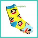 ถุงเท้าเด็ก ถุงเท้าพอลแฟรงค์ ลายลิง น่ารัก ขนาด (L) 15-18 cm