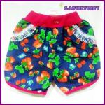 กางเกงเด็ก กางเกงเด็กหญิงขาสั้น กางเกงเด็กเล็ก สตรอว์เบอร์รี่สีชมพู size XXL