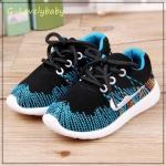 รองเท้าเด็ก รองเท้าผ้าใบเด็ก รองเท้าเด็กวัยหัดเดิน รองเท้าเด็กเล็ก สไตล์นักกีฬา พื้นยางกันลื่น Baby Shoes 1-4 ขวบ