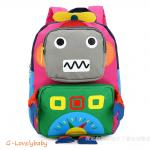 Kids Backpacks , Kindergarten Backpacks กระเป๋าเป้เด็ก กระเป๋าเด็กลายการ์ตูน โรบอท robot กระเป๋าเป้เด็ก กระเป๋าสำหรับเด็กอนุบาล น่ารักๆ สีชมพู