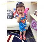 ชุดเด็ก เสื้อกล้ามเด็ก และ กางเกงขาสั้นเด็ก ซุปเปอร์แมน superman