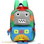 Kids Backpacks , Kindergarten Backpacks กระเป๋าเป้เด็ก กระเป๋าเด็กลายการ์ตูน โรบอท robot กระเป๋าเป้เด็ก กระเป๋าสำหรับเด็กอนุบาล น่ารักๆ สีเขียว