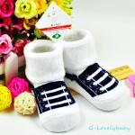 ถุงเท้าเด็ก ถุงเท้าเด็กเล็ก สวมใส่กันหนาว สินค้าเกาหลี ผ้าเทอรี่หนานุ่ม น่ารักๆ 0-1ขวบ