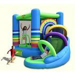 Happy hop บ้านเด็กเป่าลม บ้านลม สไลเดอร์เป่าลม Rainbow Bouncy Castle with Slide jumping castles