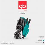 NEW GB Qbit+ 2017 Germany Ver รถเข็นเด็ก ปรับเอนนอนได้ พับมือเดียว ขึ้นเครื่องได้ L42 cm / W49 cm / H53 cm