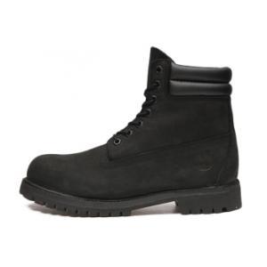 รองเท้าหนัง Men's Timberland 6-inch Waterproof Double Collar Boots All Black Size 39-45 พร้อมกล่อง