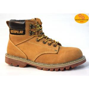 """รองเท้า CATERPILLAR CAT SECOND SHIFT 6"""" STEEL TOE น้ำตาลเหลือง หนังด้านชามัวร์ รองเท้าเซฟตี้ หัวเหล็ก size 39-45 สินค้าใหม่"""