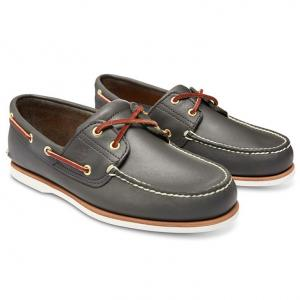 รองเท้าหนัง Men's Earthkeepers Timberland Icon Classic 2 Tone 2 Eye Boat Shoe (Men's) - Navy Smooth Size 40 - 44 พร้อมกล่อง