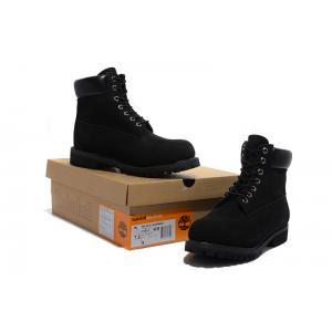 รองเท้าหนัง Men's and Women's Timberland 6-inch Premium Waterproof Boots All Black Size 38-45 พร้อมกล่อง