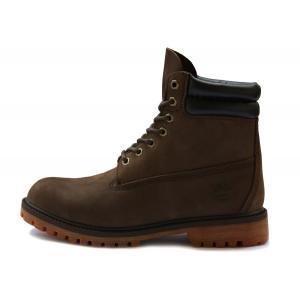 รองเท้าหนัง Men's Timberland 6-inch Waterproof Double Collar Boots Black Brown Size 39-45 พร้อมกล่อง