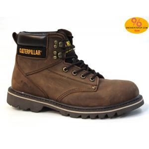 """รองเท้า CATERPILLAR CAT SECOND SHIFT 6"""" STEEL TOE เทาสนิม หนังออยล์ รองเท้าเซฟตี้ หัวเหล็ก size 40-45 สินค้าใหม่"""