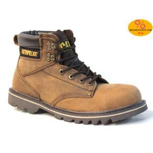 """รองเท้า CATERPILLAR CAT SECOND SHIFT 6"""" STEEL TOE เทาแดงสนิม หนังออยล์ รองเท้าเซฟตี้ หัวเหล็ก size 40-45 สินค้าใหม่"""