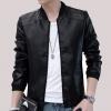 Pre-Order เสื้อแจ็คเก็ตหนัง แขนยาว หนัง PU คุณภาพดี สีดำ