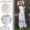 สินค้าพร้อมส่ง 한국에 의해 설계된 2Sister made, White Luxury Cuties Lady Korea Dress Adorn with Mini Flowers แม็กซี่เดรสหรูลุคสาวหวาน เนื้อผ้าorganzaลายตาราง ประดับปักเย็บดอกไม้สวยหวานทั้งตัว งานมีซับในอย่างดีนะคะ ดีเทลแขนสั้น มีซิปด้านหลัง กระโปรงระบายบานสวย สาม