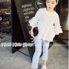 กางเกงยีนส์ขายาวเด็กหญิง สีอ่อน PinkIdeal