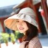 Pre-order หมวกแฟชั่น หมวกใบกว้าง หมวกฤดูร้อน กันแดด ผ้าโพลีเอสเตอร์ สีกากี