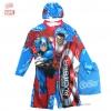ฮ Size S ชุดว่ายน้ำเด็กผู้ชาย Super Hero - The Avengers สีน้ำเงิน บอดี้สูทเสื้อแขนยาวกางเกงขาสั้น สกรีนตัว The Avengers มาพร้อมหมวกว่ายน้ำ สุดเท่ห์ ใส่สบาย ลิขสิทธิ์แท้ (สำหรับเด็กอายุ 4-5 ปี)