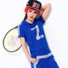 Pre-Order ชุดกีฬา ชุดออกกำลังกาย เสื้อผ้าออกกำลังกาย ชุดลำลอง เสื้อแขนสั้นมีฮู้ดและกางเกงขายาวสีฟ้า