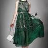 Korea Design By Lavida beautiful floral printing sleeveless emerald maxi dress แมกซี่เดรสทรงปล่อยแขนกุด พิมพ์ลายใบไม้ มาในโทนสีเขียวมรกตสวยมากค่ะ ผ้าเนื้ออย่างดี นิ่มพริ้วใส่สบายไม่ร้อน มาพร้อมเข็มขัดหนังลายเปียสีขาว ใส่แบบทรงปล่อยหรือผูกเข็มขัดให้เข้าทรง