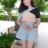 สินค้าพร้อมส่งคร่า !!! ป้าย Miss YaPa BRAND : JP Detail : เสื้อเนื้อผ้าสีพาสเทล ตัดดำ สายดำ ทรงสวย ใส่แมทซฺกับกางเกงสีฟ้าพาสเทล เอวสูง ด้านหน้าจับจีบสวย ใส่ออกมาทรงสวย ดูผู้ดี๋ผู้ดี งานเกรดพรีเมี่ยม งานปราณีต ละเอียด สวยมากๆ คอลเลคชั่นใหม่ เนื้อผ้าสวมใส่ส